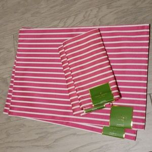 Kate Spade pink placemats and napkins